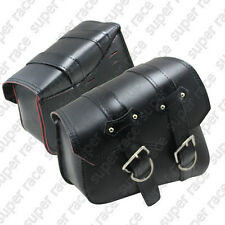Black Motor PU Leather Side Bag Saddle Bags For Harley Sportster XL883 XL1200