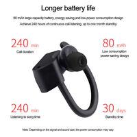 True Wireless Sport Headphones Bluetooth Earphones Twins Ear Hook Bass Headset D