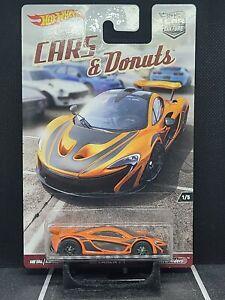 Hot Wheels 2017 Car Culture Cars and Donuts McLaren P1 Orange and Black Car