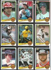 Donruss 1983 baseball card lot of 9 cards Johnny Bench Steve Garvey Gary Carter