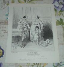 SATIRE PYGMALION STATUE GALATEA & GRACCHI Honore-Victorin Daumier Caricatures