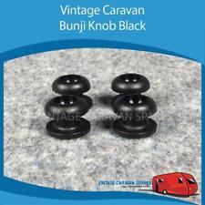 Caravan Camper BUNJI KNOB BLACK x 4  Vintage Viscount, Franklin, Millard A0102
