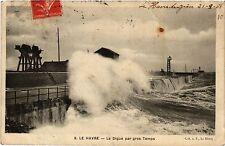 CPA Le Havre-La Digue par gros Temps (348658)