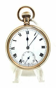 A Nice Gold Plated 21 Jewel Open Faced A Reymond Pocket Watch