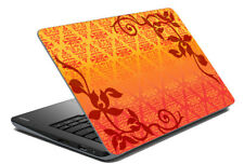 """Ethnic Laptop Skin Yellow Colour Stickers Cover Decal Fits 14.1"""" To 15.6"""""""