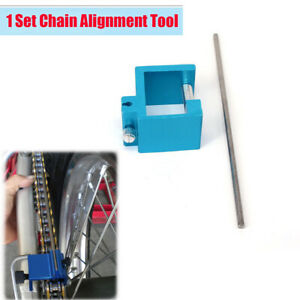 New Chain Alignment Tool Blue Metal Check chain and Sprocket For Cycles and ATVs