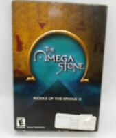 The Omega Stone Riddle Of The Sphinx II 2 PC 4 CD-ROMs Omni Dreamcatcher 2003