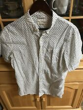 Ralph Lauren Denim & Supply White Skull and crossbone Button Up Short Sleeve M