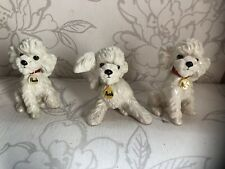 More details for 3x poodle ornament/pooch/collectable figurines(repaired)