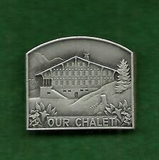 VINTAGE GIRL SCOUT - SCARCE OUR CHALET PIN - WORLD CENTER INTERNATIONAL HOSTEL
