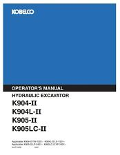 kobelco k907 mark 2 excavator parts catalog manual