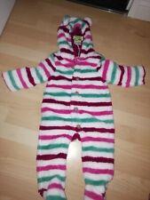 Joules Pink Stripy Snow Suite 6-9mon Bnwt