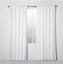"""Eclipse 42""""W x  63""""L Braxton Blackout Window Curtain ONE Panel White Rod Pocket."""
