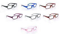 Slim Reading Lightweight Glasses form +0.5 to +3.50 Unisex UV Reader Spring Geek