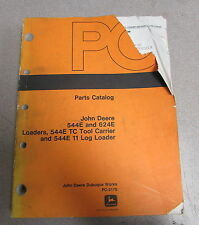 John Deere 544e 624e Loaders 544E Tc Tool Carrier Log Parts Catalog Manual 1988
