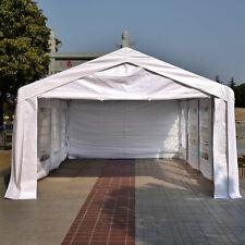 13'x26' Gazebo Party Tent Wedding Pop Up Tent with 4 Sidewalls White