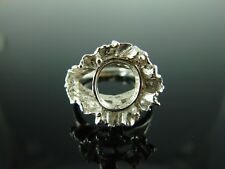 5734 Ring Setting Sterling Silver Size 9, 12x10mm Oval Gemstone