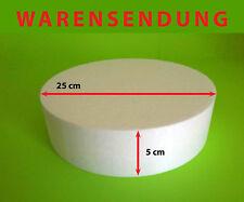 Styropor-Scheibe Torte Ø 25 Höhe 5 cm Rohling Dummy Hochzeit Cake Grundlage Deko