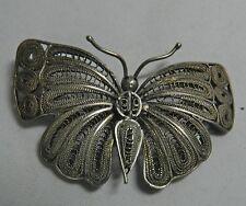 Vintage Filigree Butterfly Fine Sterling Silver Pin