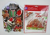 Wilton Christmas 7 Pc Metal Cookie Cutter Set 4 Pc Cookie Tray Kit New