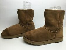 *4 WOMENS UGG AUSTRALIA WINTER SUEDE BROWN BOOTS SIZE 7?