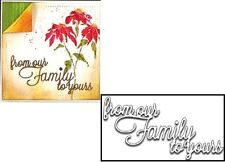 Penny Black 51-149 From OUR FAMILY To Yours Christmas Holiday Steel Cutting Die