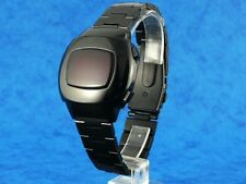 BLACK 70s Vintage Style LED LCD DIGITAL Rare Retro Mens Watch 12 & 24 hour p3