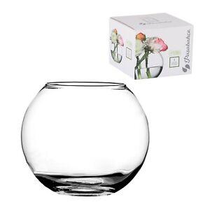 Pasabahce Round Glass Flower Vase Fish Bowl Balloon Centerpiece Wedding Gift Box