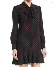 Veronica Beard Linley Black And Red Polka Dot Dress Size 8