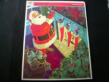 Vintage 1971 PRESENTS FROM SANTA Frame Tray Puzzle Whitman Christmas
