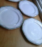 Christopher Stuart Wellesley China 3 Dinner Plates Octagnal 10 1/4""