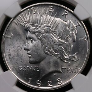 1923 D PEACE DOLLAR NGC MS 62 FROSTY WHITE AND WELL STRUCK BETTER DATE