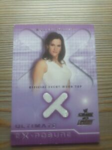"""MOLLY HOLLY """"ULTIMATE EXPOSURE EVENT WORN TOP CARD"""" FLEER RAW VS SMACKDOWN"""