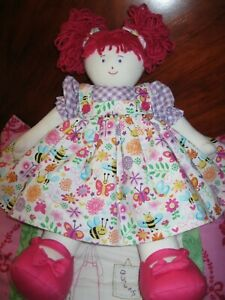 Sweet Kate Finn Rag Doll,Fully Clothed.Pink Pigtails.Excellent Cond.NWOT.No.1