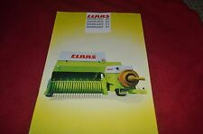 Class Markant 65 55 51 41 Baler Dealers Brochure YABE10