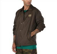 VANS (TORREY) COACHES JACKET SKATE SNAP BROWN MENS SZ LARGE L NWT NEW⚡️