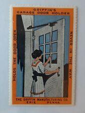Cinderella Poster Stamps Griffins Garage Door Holder Erie PA Vintage Advertising
