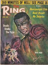 THE RING MAGAZINE DICK TIGER BOXING HOFer APRIL 1967
