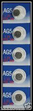 5 AG5 LR754 393 SR48 1.5 Volt Alkaline Cell Watch Batteries Ships From USA