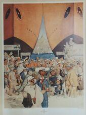 """""""DER HAFEN VON MARSEILLE 1933"""" Affiche originale entoilée 1992 DUBOUT 46x63cm"""