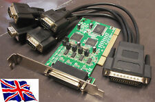 PCI RS422 RS485 4 Serial Port Card 16C1050