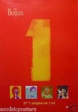 "BEATLES ""1's 27 NO. 1 SINGLES"" AUSTRALIAN PROMO POSTER-John, Paul, George, Ringo"