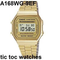 Casio Retro Digital Alarm Stopwatch Chronograph Silver / Gold Gents Watches