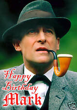Sherlock Holmes jeremy Brett Sir Arthur Conan Doyle Cumpleaños Tarjeta Personalizada