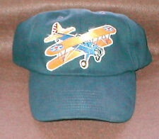 Hat With Stearman Airplane Emblem Army Colors, Low Profile Style Navy Hat R/C