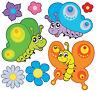Kinder Stickers Schmetterlinge: 1 Bogen 30x30cm Ref 2521