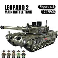 Leopard 2 Main Battle Tank Model Building Blocks Military WW2 Army Soldier