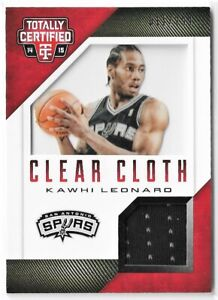 2014-15 /299 Kawhi Leonard Totally Certified Clear Cloth Game Used Jersey Worn
