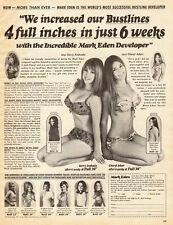1972 vintage AD, MARK EDEN Bigger Busts ! 4 inches in 6 Weeks ! bikinis 102614