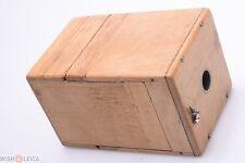 NICE HOME MADE WOOD BOX CAMERA 88X128X85MM 120 ROLL FILM. KODAK, AGFA, BRAUN ?